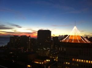 2013-09 September USA trip sunset Waikiki 004