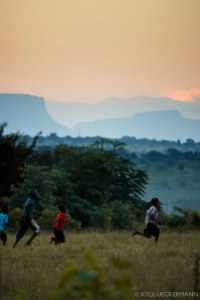 Children playing in Gazankulu, one of the rural areas in the northern parts of South Africa
