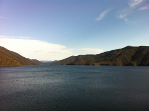 Talbingo Dam, created by the Snowy Mountains Hydro Scheme.