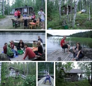 Summer Cottage collage