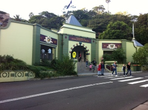 Taronga Zoo entrance from the wharf